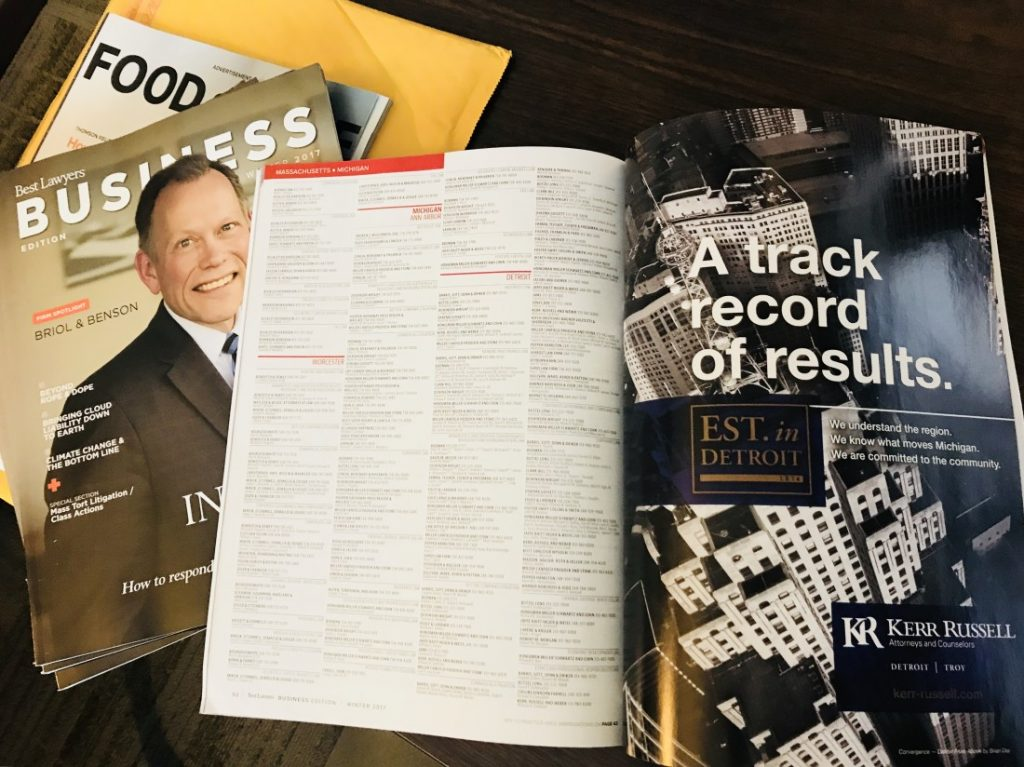 Kerr Russell highlighted in Best Lawyers – Business, Winter 2017 issue