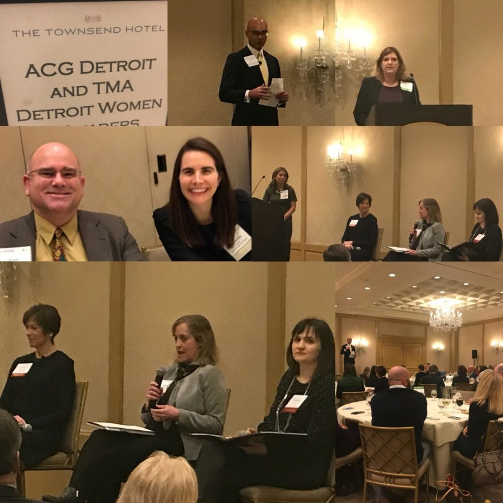 """ACG/TMA co-host """"Women In Leadership,"""" a panel of leading Detroit-based female executives discussing opportunities and challenges for women; Kerr Russell a silver sponsor"""
