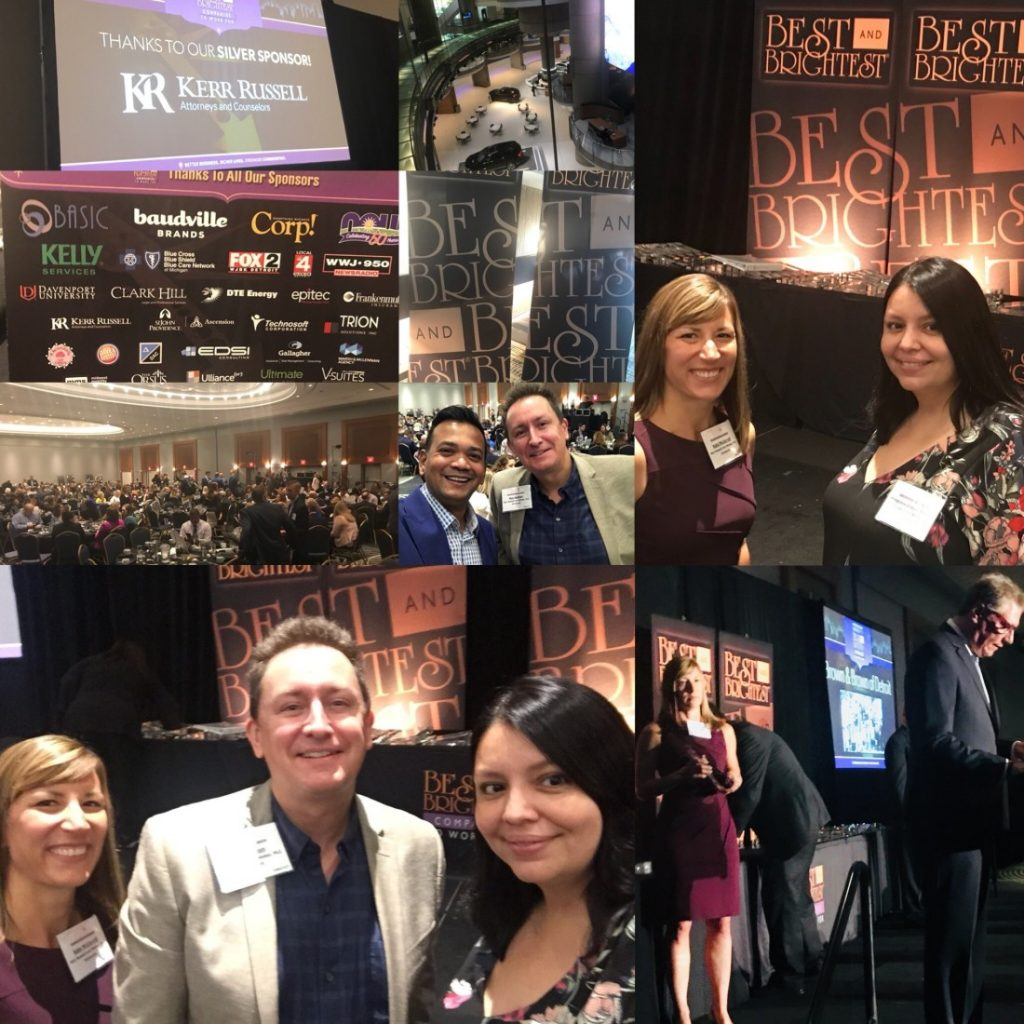 Kerr Russell sponsors, partners attend Metropolitan Detroit's Best and Brightest Companies to Work For 2018 event