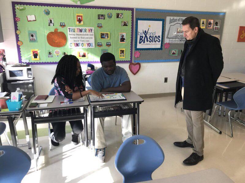 Kerr Russell Marketing Director visits Beyond Basics, Detroit literacy program