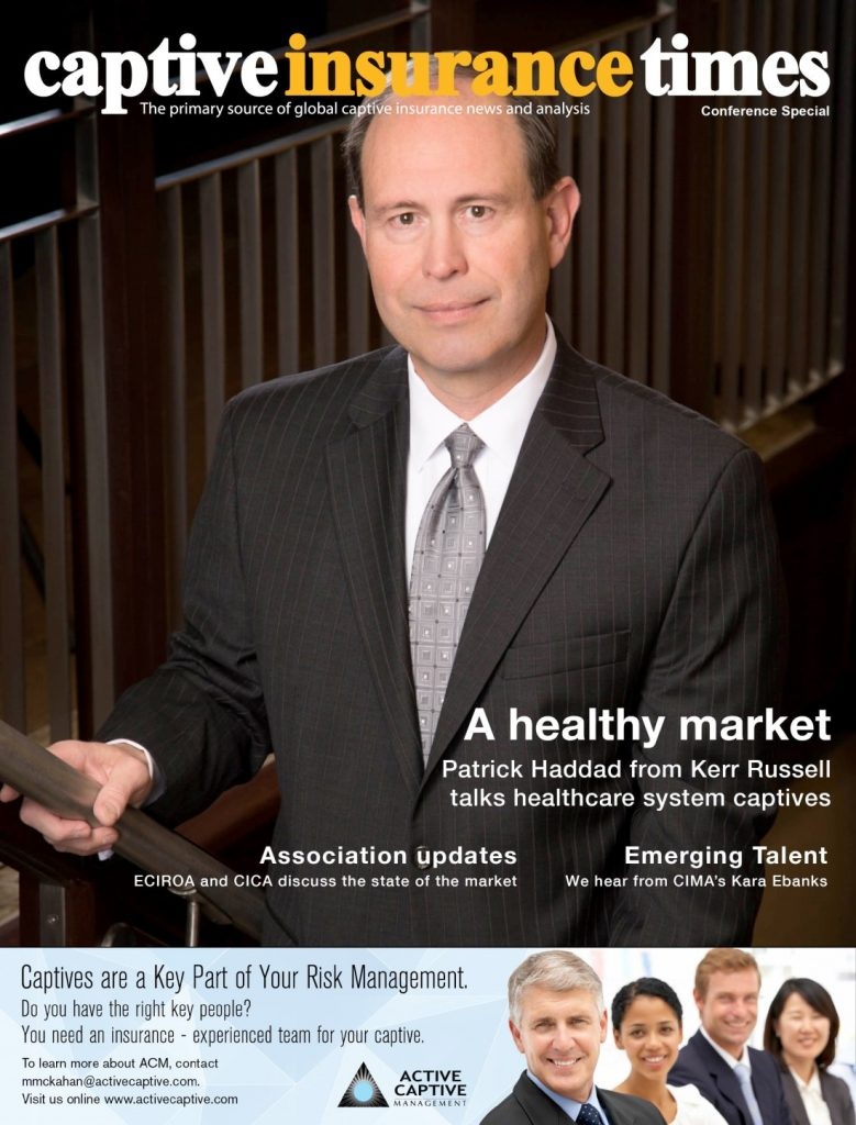 Patrick Haddad Cover in Captive Insurance Times
