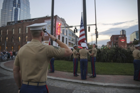 Kerr Russell salutes Detroit Marine Week, sharing personal stories of military service