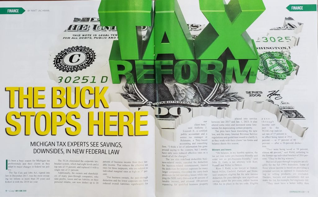 Kerr Russell Tax Attorney Discusses The New Federal Tax Law