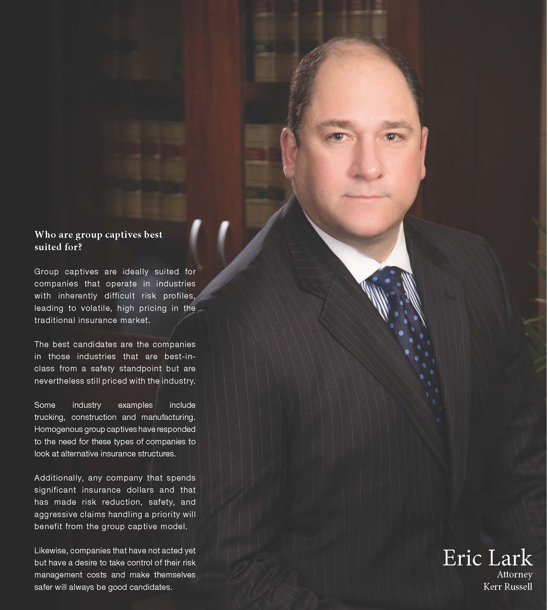 Eric Lark-Captive Insurance-Risk Finance - Group Captives