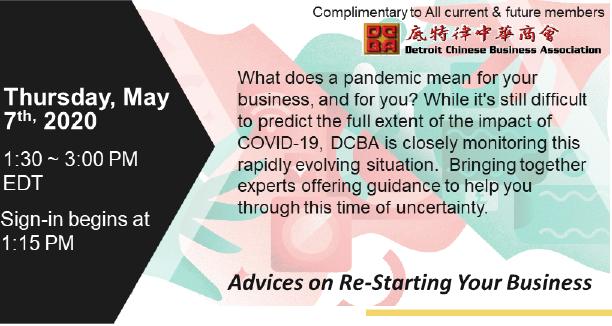 Webinar: Advice on Restarting Your Business