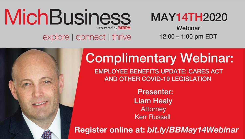 Upcoming Webinar on Employee Benefits Amid COVID-19