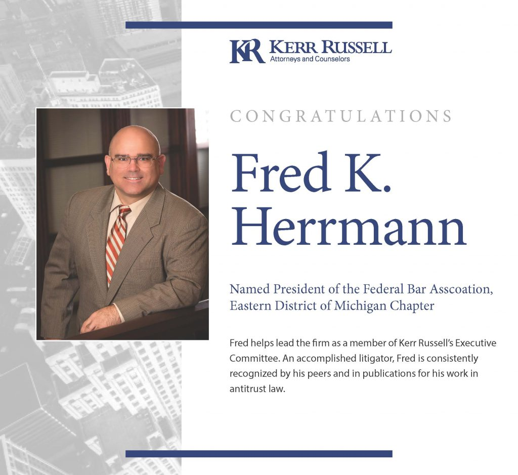 Kerr Russell Attorney Installed As Federal Bar Association Chapter President