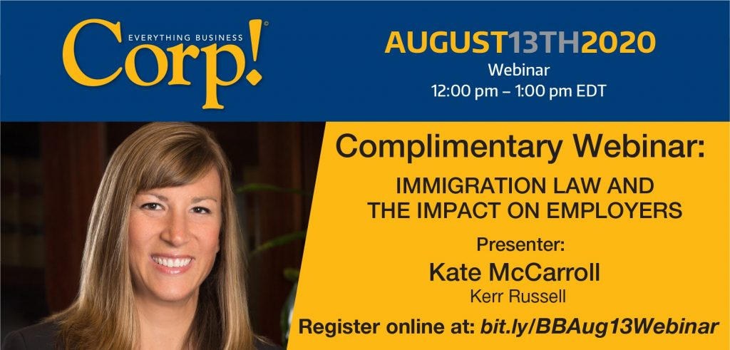 Upcoming Webinar: Immigration Law and the Impact on Employers