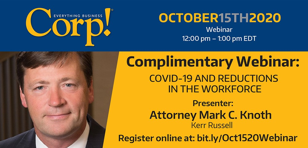 Upcoming Webinar: COVID-19 and Reductions in Work Force