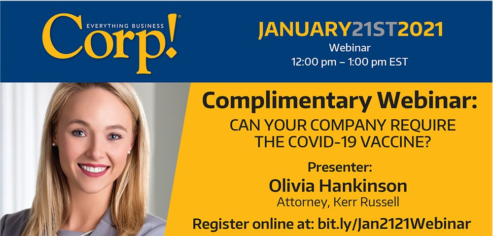Upcoming Webinar: Can your company require the COVID-19 vaccine?